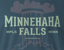 Detail of Minnehaha Falls t-shirt