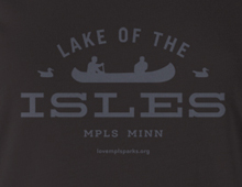 Detail of Lake of the Isles t-shirt