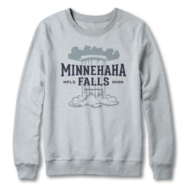 Minnehaha Falls sweatshirt in heather grey