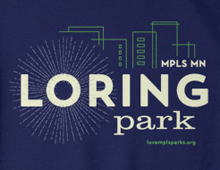 Detail of Loring Park sweatshirt in navy