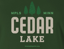 Detail of Cedar Lake t-shirt
