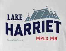 Detail of Lake Harriet t-shirt