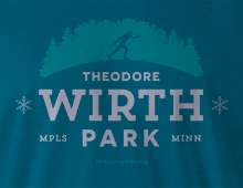 Detail of Wirth Park t-shirt