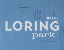 Detail of Loring Park t-shirt