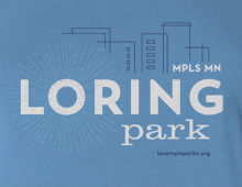 Detail of Loring Park t-shirt