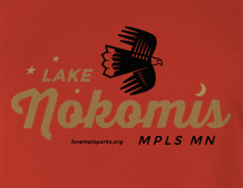 Detail of Lake Nokomis t-shirt