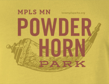 Detail of Powderhorn Park t-shirt