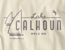 Detail of Lake Calhoun Long Sleeve T-Shirt