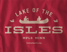 Detail of Lake of the Isles Long-Sleeve T-Shirt