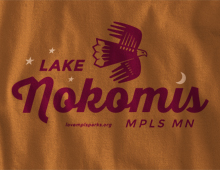 Detail of Lake Nokomis Long-Sleeve T-Shirt