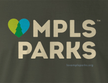 Detail of LoveMplsParks.org T-Shirt