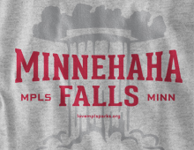 Detail of Minnehaha Falls Long-Sleeve T-Shirt
