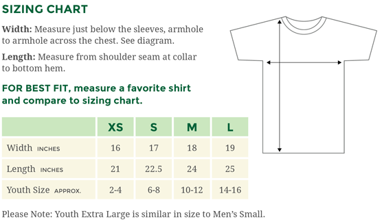 New Sizing Chart for Anvil Youth T-Shirts