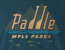 Detail of Paddle MPLS Parks men's t-shirt