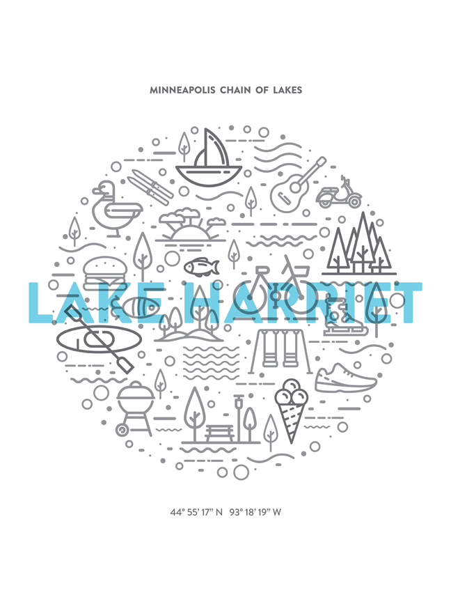 Lake Harriet poster by Elizabeth Anderson