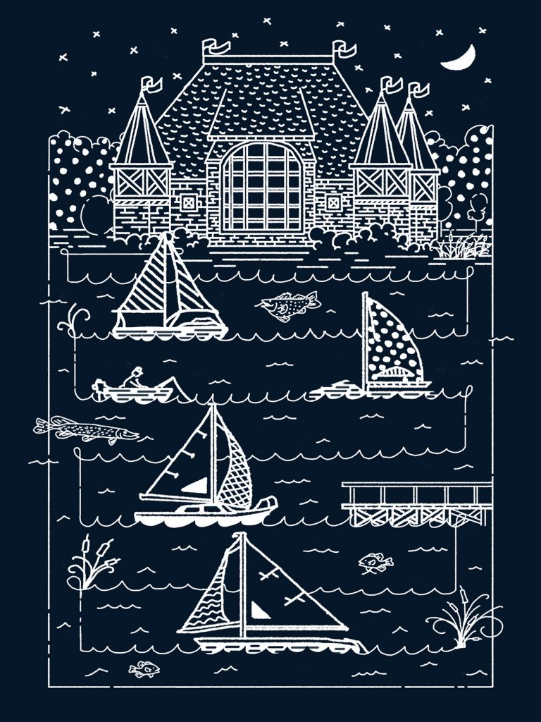 Night Sailing poster by Wattle & Daub
