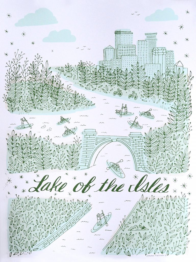 Lake of the Isles poster by Jenna Freimuth