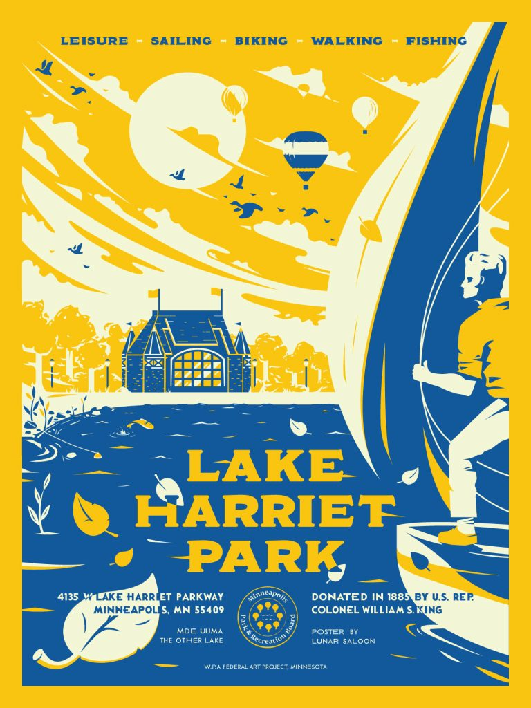 Lake Harriet Park poster by Alex Griendling
