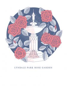 Lyndale Park Rose Garden poster by Claire McFall