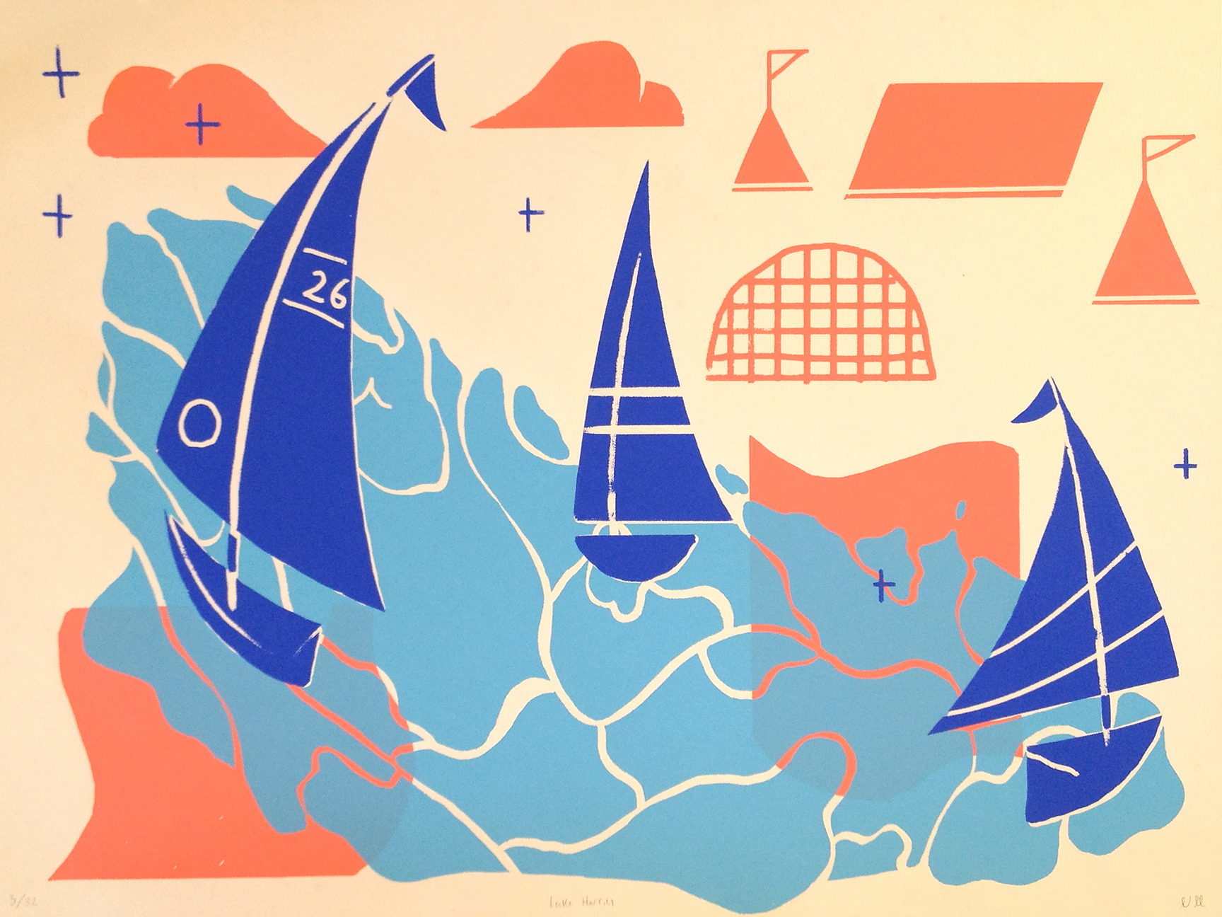 Sailing By poster by Nathan Motzko