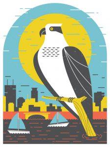 Osprey poster by Vincent Nigro