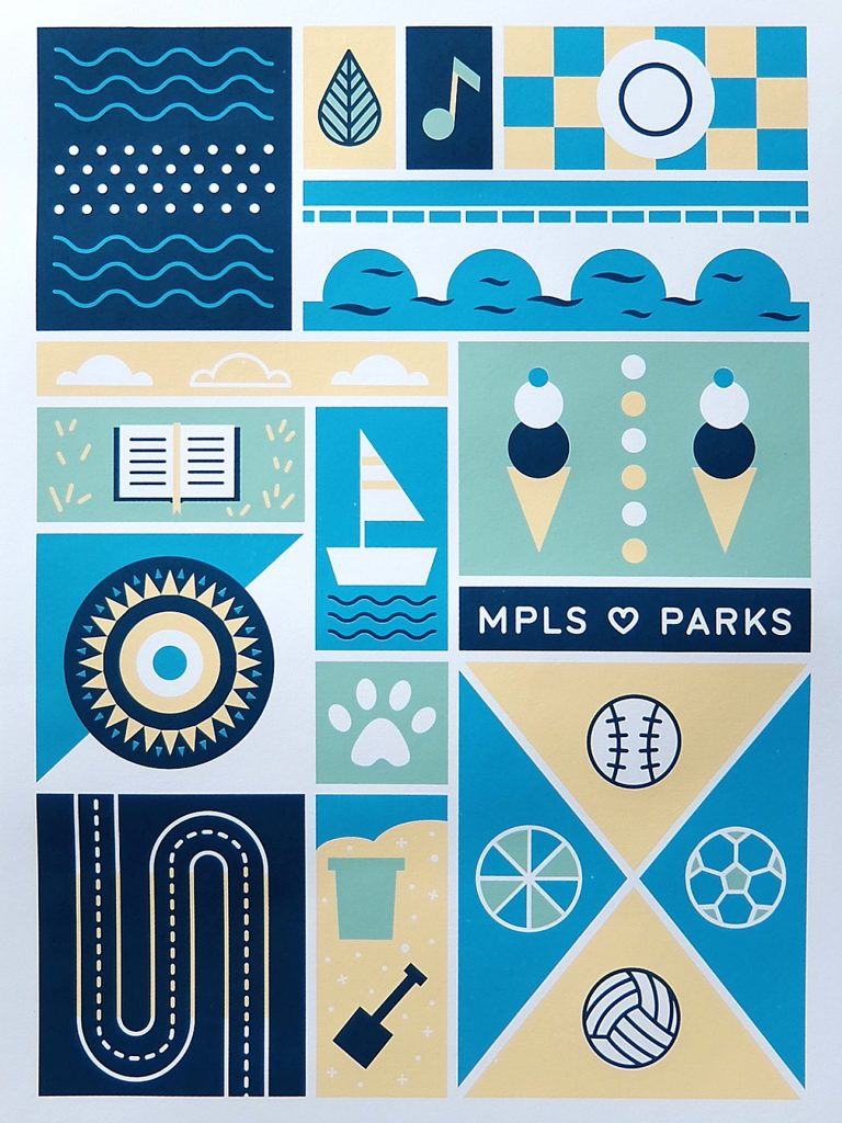 A Day in the Park poster by Rachel Quast