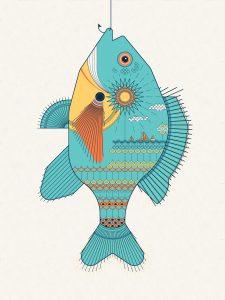 Sunfish poster by Ellen Schofield