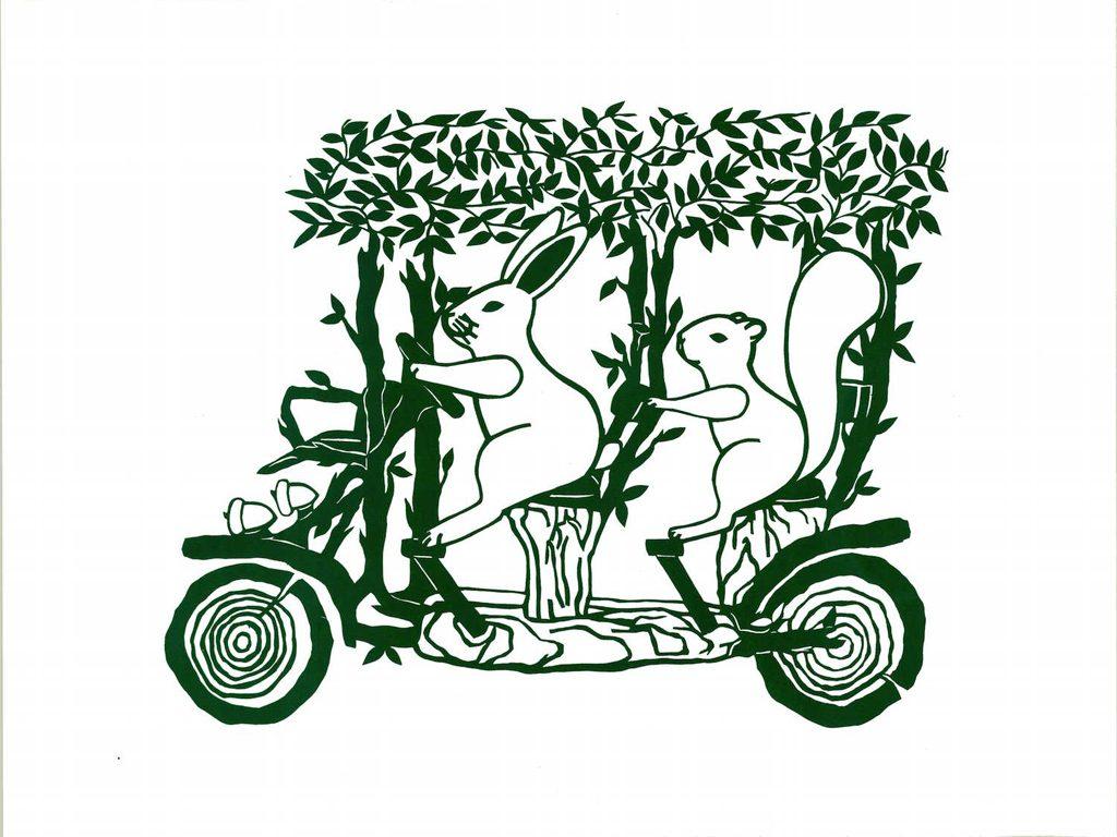 Surrey Bike at Minnehaha Park poster by Nancy Ariza
