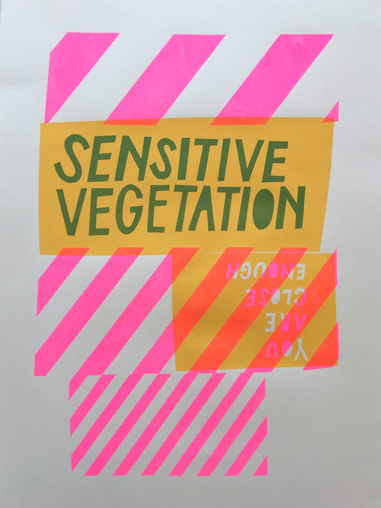 Sensitive Vegetation poster by Laura Brown