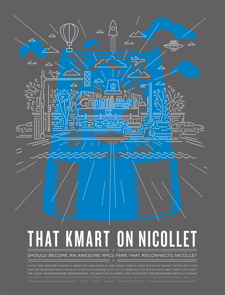 That KMart on Nicollet poster by Jeffrey Johnson