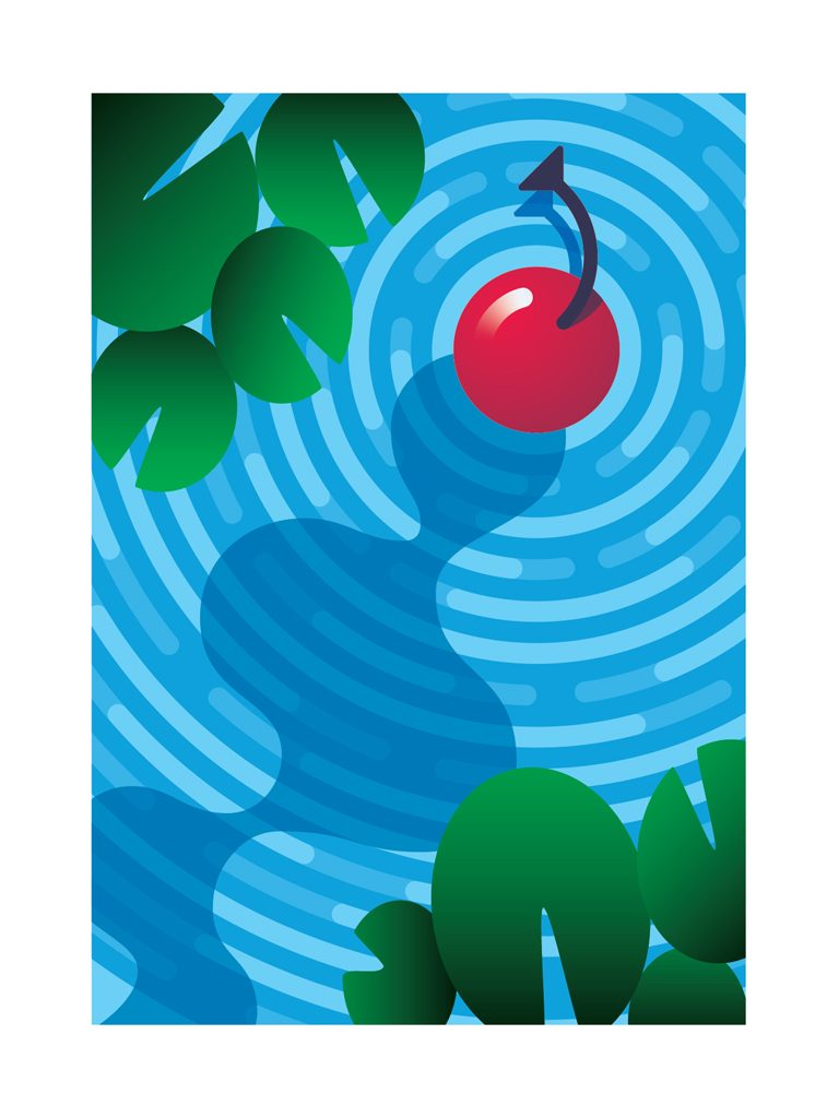 Cherry on the Water poster by Austin Nash