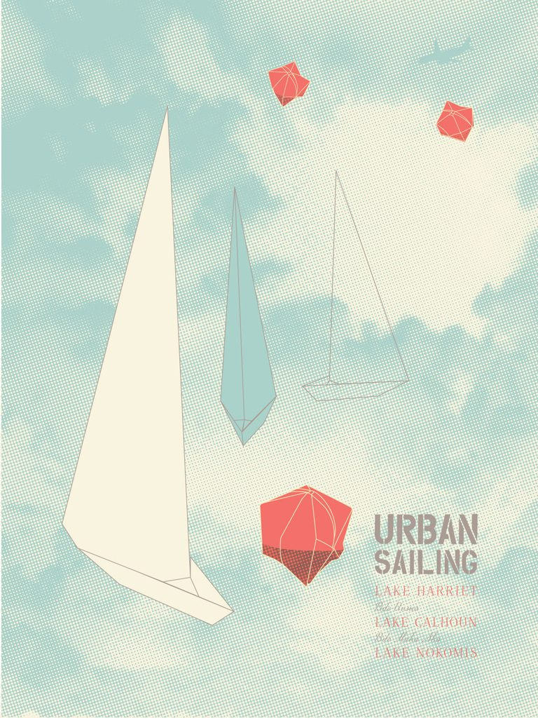 Urban Sailing poster by Jennifer O'Brien