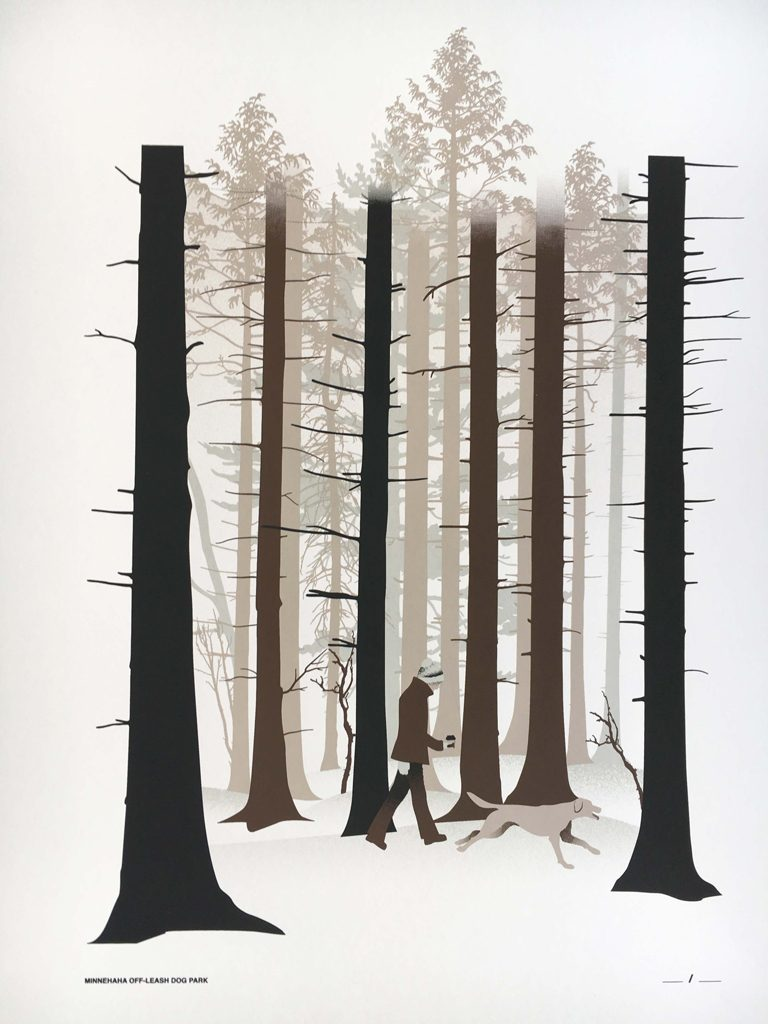 Winter Walk poster by Megan Reiner