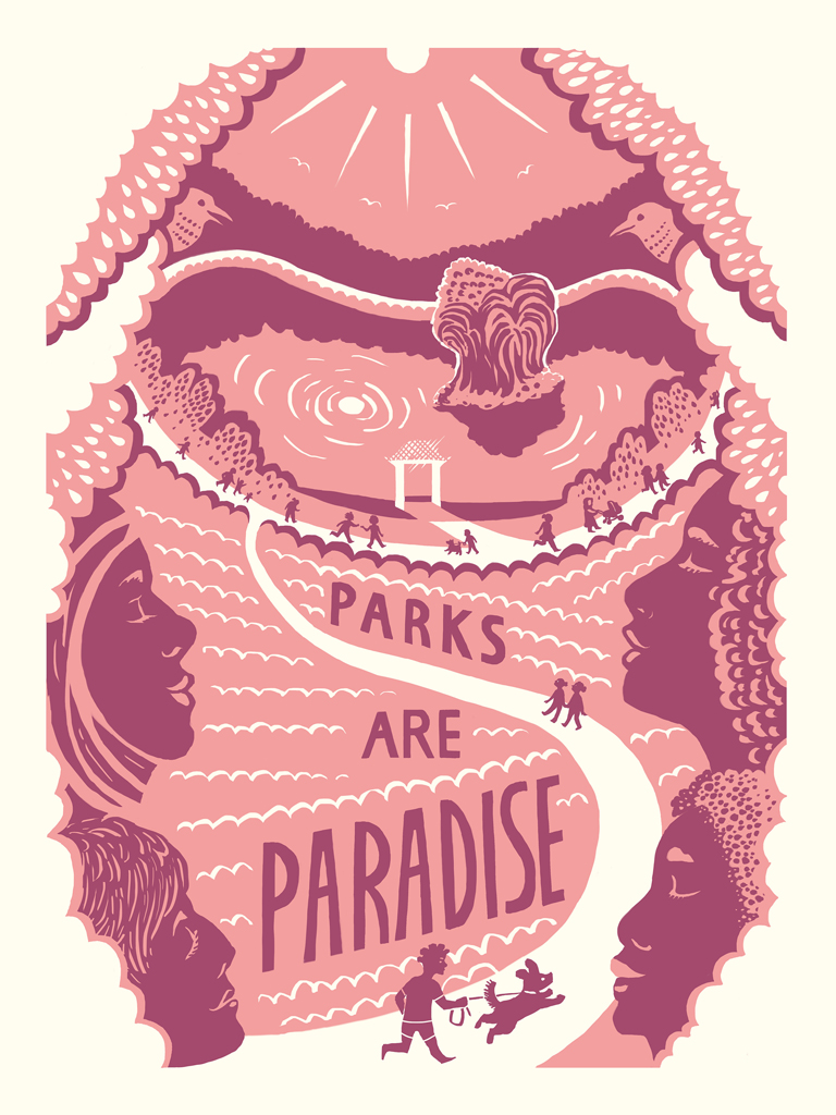 Parks are Paradise poster by Violeta Rotstein
