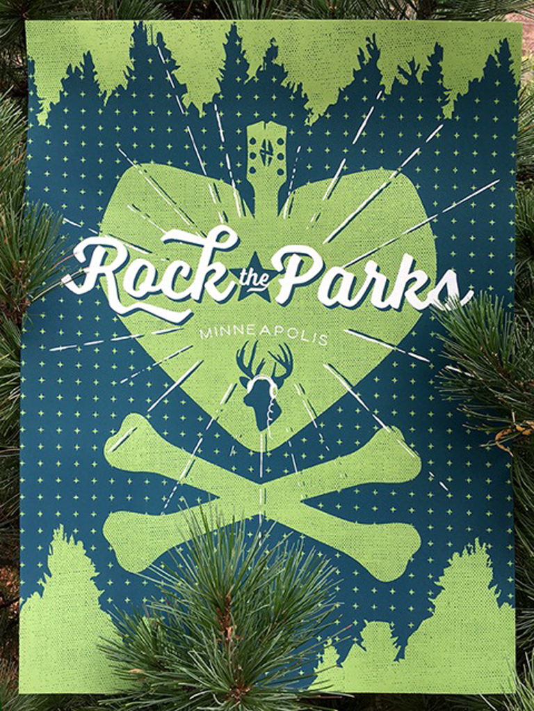 Rock the Parks poster by Scott Shore
