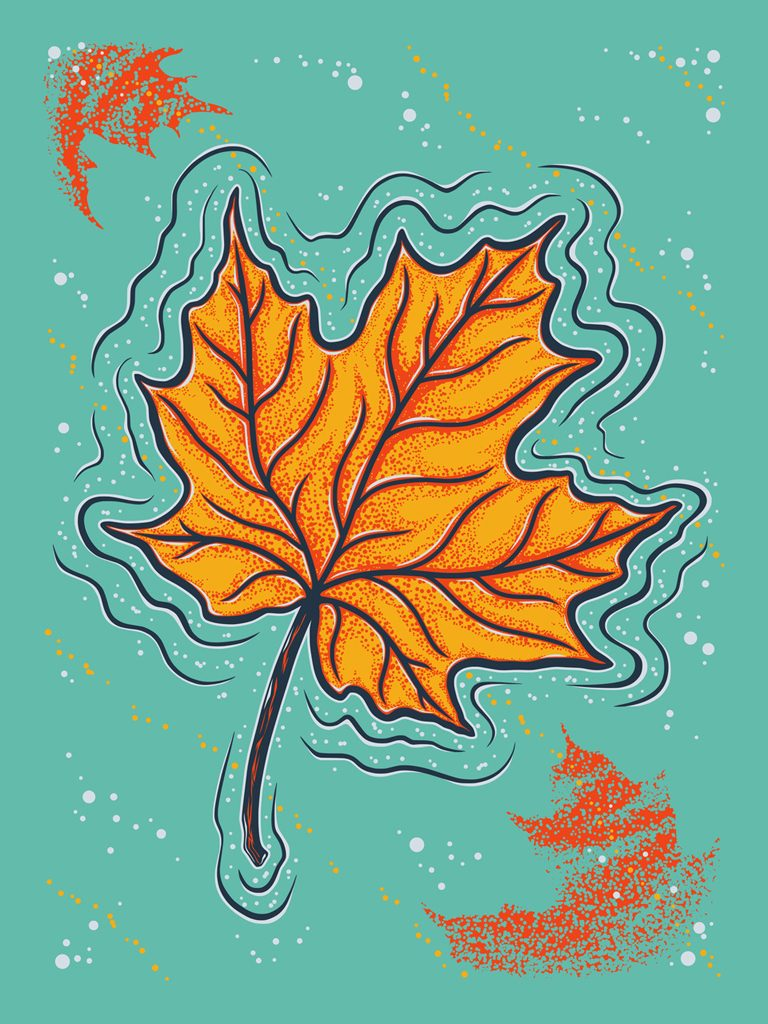 Autumn Floats On poster by Corey Sweeter