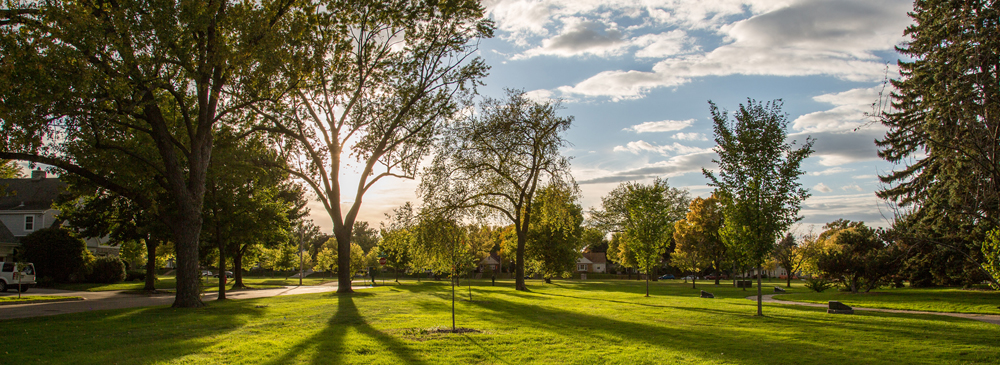 Photo of Victory Memorial Park Autumn Sunset by Tony Webster