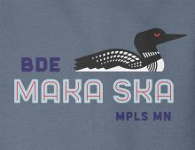 Detail of Bde Maka Ska hooded sweatshirt