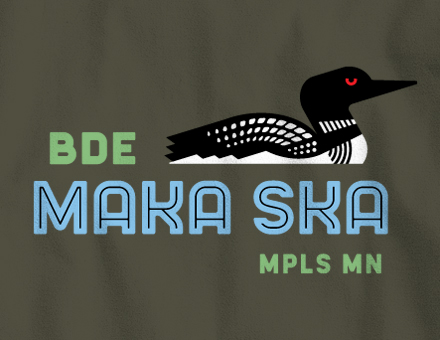 Detail of Bde Maka Ska Long-Sleeve T-Shirt