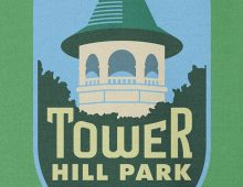 Detail of Tower Hill Park Sweatshirt