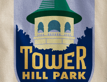 Detail of Tower Hill Park Long-Sleeve T-Shirt
