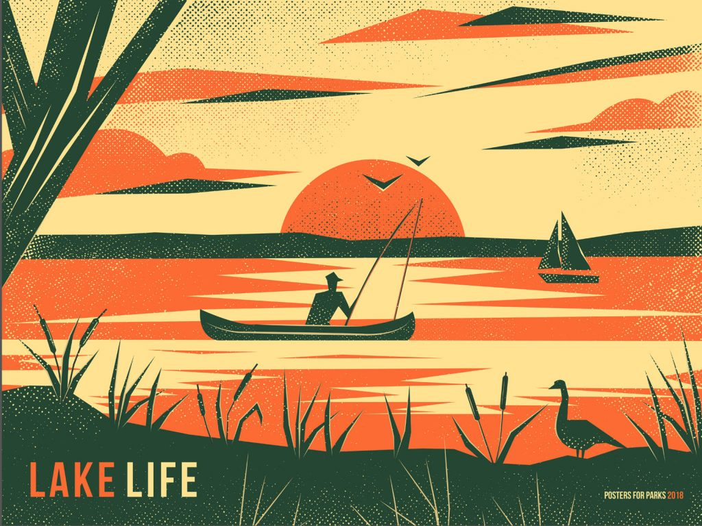 Lake Life poster by Ivine Badran