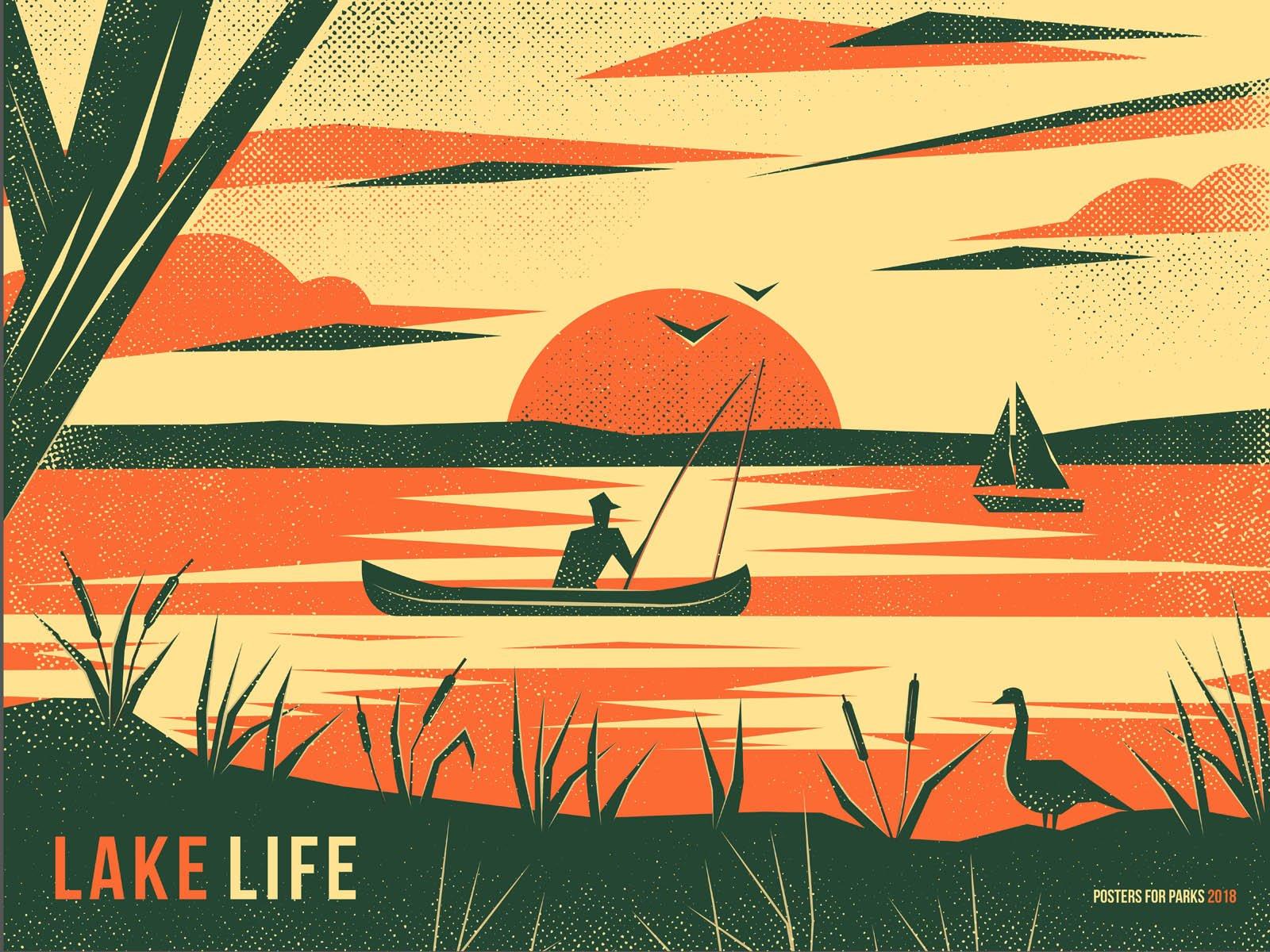 Lake Life poster by Ivine Badran