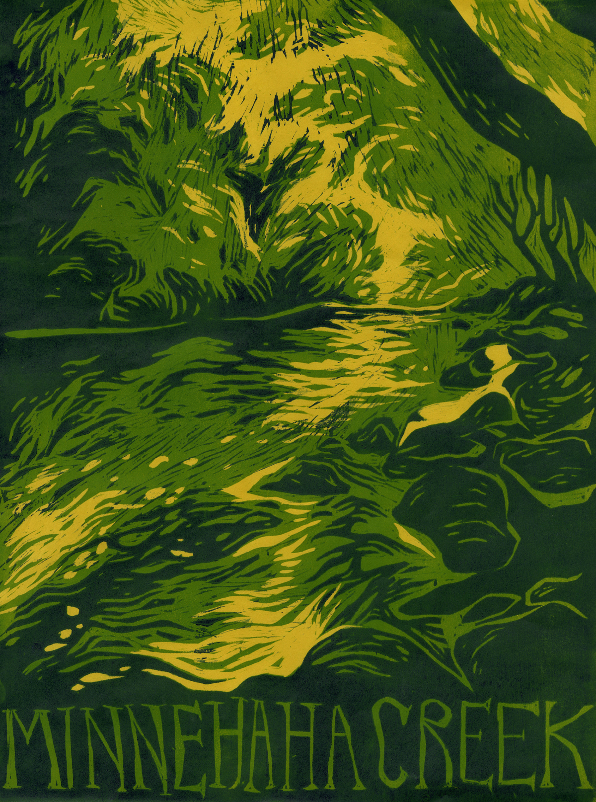 Minnehaha Creek poster by Lucy Comer