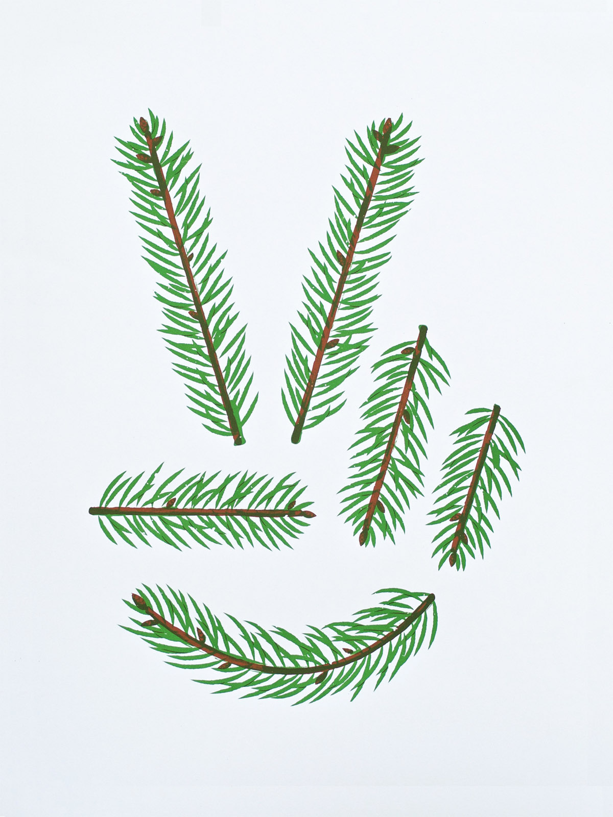 Peace Pine poster by Joshua Gille