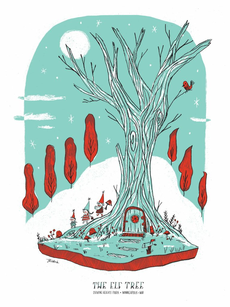 The Elf Tree poster by Jill Kittock