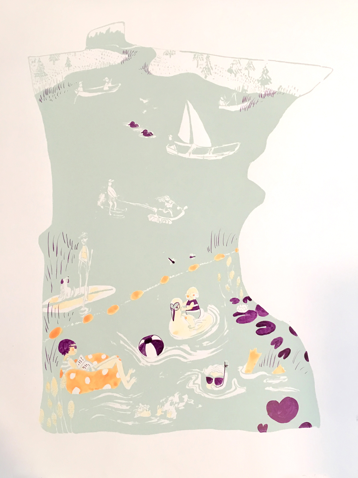 For the Love of Lakes poster by Britt Madson