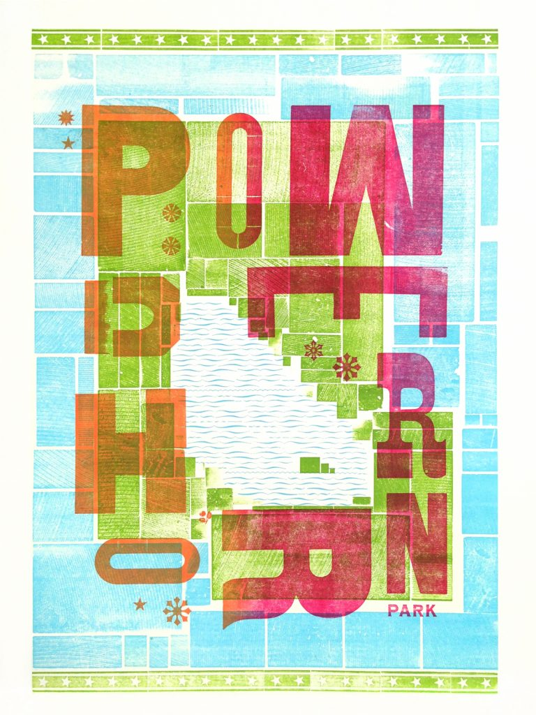 Powderhorn Park poster by Molly Poganski