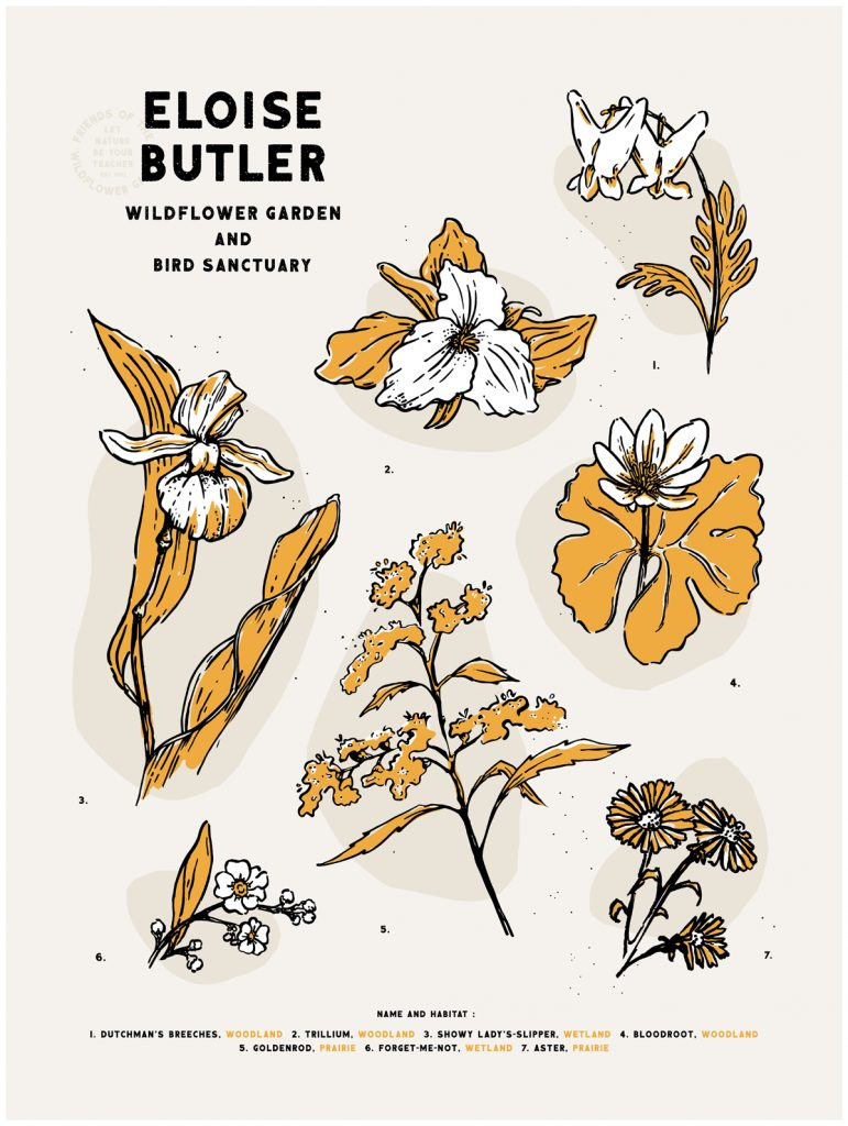 Friends of the Wildflower Garden poster by Theresa Ptak