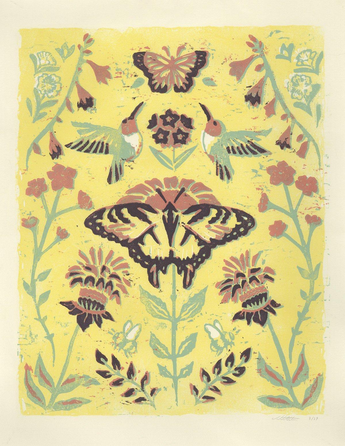 The Pollinator's Garden poster by Violeta Rotstein